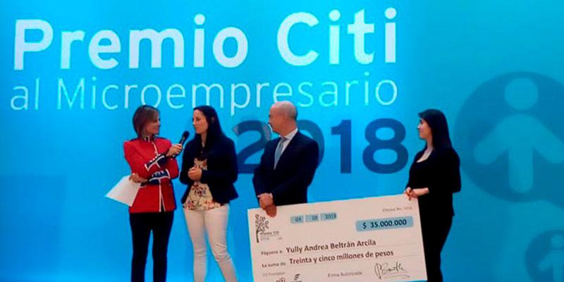 Microempresarios del año en premios Citi